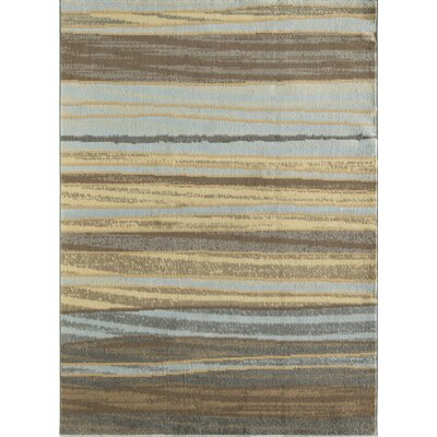 Nolasco Striped Blue/Gray Area Rug Rug Size: Rectangle 5 x 7