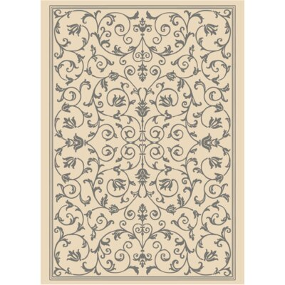 Benelva Vines Ivory Area Rug Rug Size: Rectangle 5 x 7