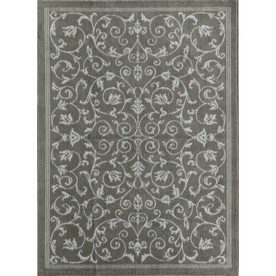 Benetton Vines Gray Area Rug Rug Size: Rectangle 5 x 7