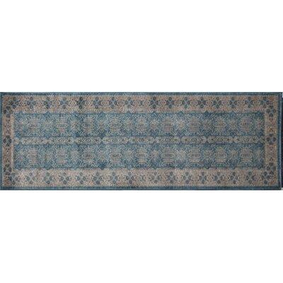 Estelle Seafoam/Ivory Area Rug Rug Size: Runner 22 x 76