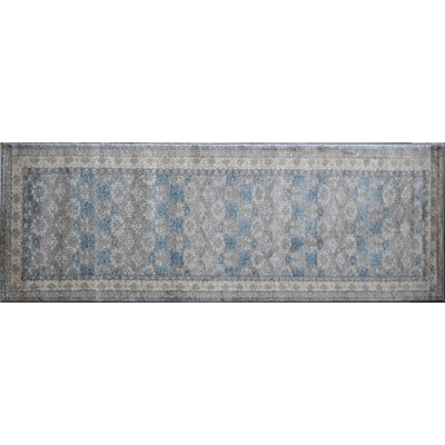 Estelle Gray/Ivory Area Rug Rug Size: Runner 2'2