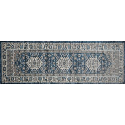 Estelle Machine Woven Seafoam/Cream Area Rug Rug Size: Runner 22 x 76
