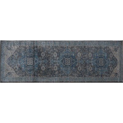Estelle Sway Blue/Gray Area Rug Rug Size: Runner 22 x 76