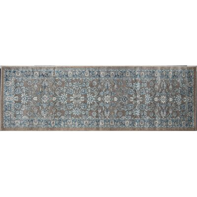 Estelle Gray/Blue Area Rug Rug Size: Runner 22 x 76