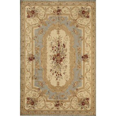 Berghoff Blue/Gold Area Rug Rug Size: Rectangle 67 x 96