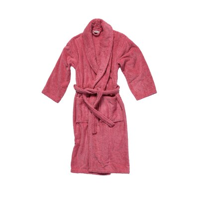 Salbakos Luxury 550 GSM Robe Plush Shawl Collar Terry Bathrobe Size: Small, Color: Rose