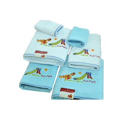 Lucia Minelli Kids Fun Park Embroidered 6 Piece Towel Set