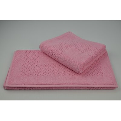 Lucia Minelli Jacquard Mei Tal Classic Tub Mat Color: Pink