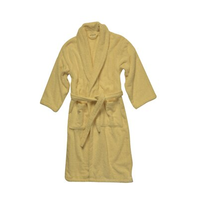 Salbakos Luxury 550 GSM Robe Plush Shawl Collar Terry Bathrobe Size: Medium, Color: Beige