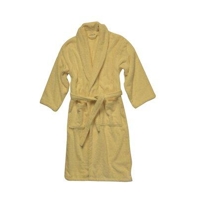 Salbakos Luxury 550 GSM Robe Plush Shawl Collar Terry Bathrobe Size: Large, Color: Beige
