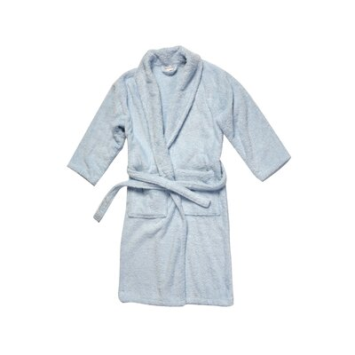 Salbakos Luxury 550 GSM Robe Plush Shawl Collar Terry Bathrobe Size: Small, Color: Ice Blue