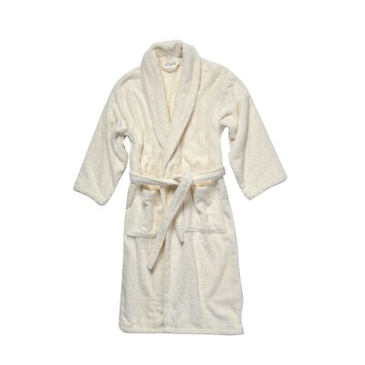 Salbakos Luxury 550 GSM Robe Plush Shawl Collar Terry Bathrobe Size: Medium, Color: Ivory