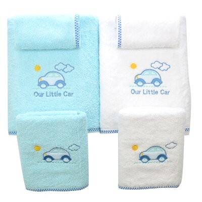 Lucia Minelli Kids Our Little Car Embroidered 6 Piece Towel Set
