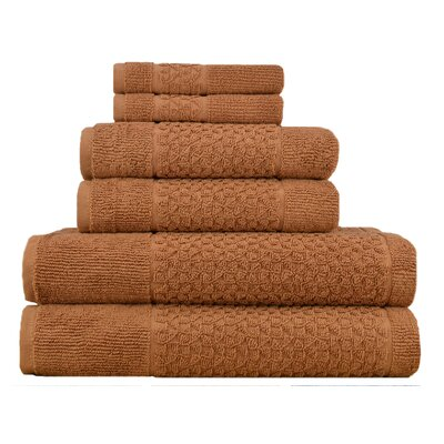 Treyton 6 Piece Towel Set Color: Light Brown
