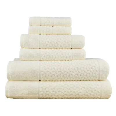 Treyton 6 Piece Towel Set Color: Ivory