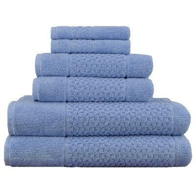 Treyton 6 Piece Towel Set Color: Blue