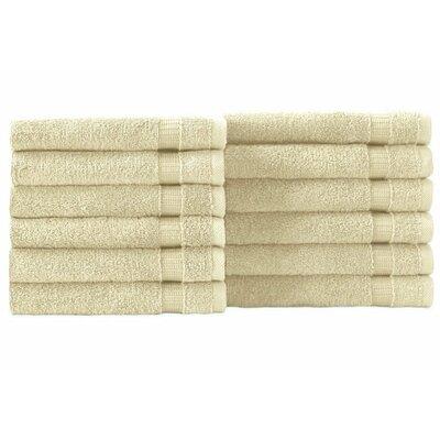 Cambridge Wash Cloth 12 Piece Towel Set Color: Ivory