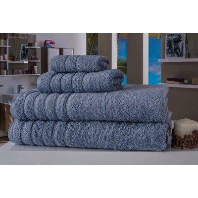 Barnum 4 Piece Towel Set Color: Blue