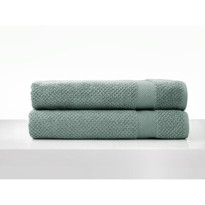 Salbakos Oviedo Jacquard Bath Towel Color: Sage