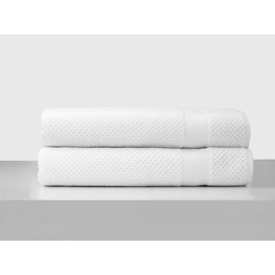 Salbakos Oviedo Jacquard Bath Towel Color: White