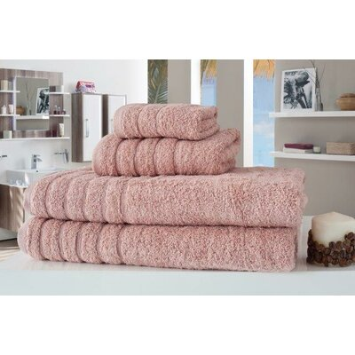 Barnum 4 Piece Towel Set Color: Rose