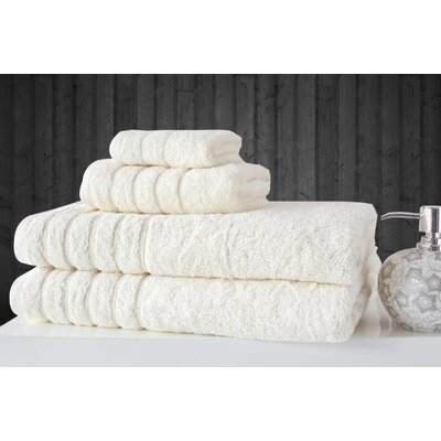 Barnum 4 Piece Towel Set Color: Ivory