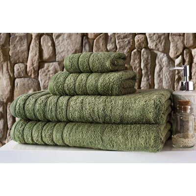 Barnum 4 Piece Towel Set Color: Green