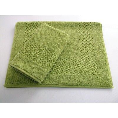 Lucia Minelli Jacquard Mei Tal Classic Tub Mat Color: Green