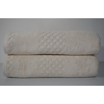 Salbakos Fairfield Bath Sheet Color: Ivory