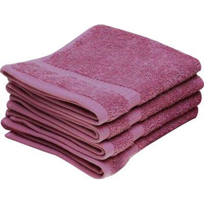 Cambridge Wash Cloth 12 Piece Towel Set Color: Rose