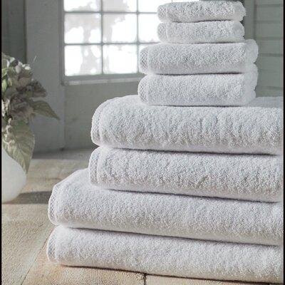 Salbakos Arsenal Giallo Family 8 Piece Towel Set Color: White