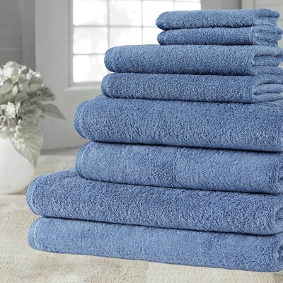 Salbakos Arsenal Giallo Family 8 Piece Towel Set Color: Blue