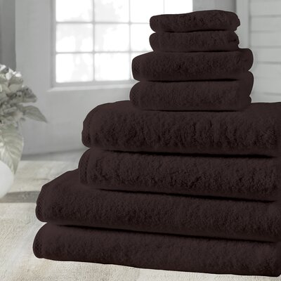 Salbakos Arsenal 8 Piece Towel Set Color: Chocolate
