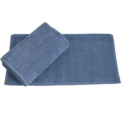 Lucia Minelli Jacquard Mei Tal Classic Tub Mat Color: Cambridge Blue