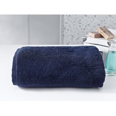 Salbakos Largest Jumbo Terry Bath Sheet Color: Navy