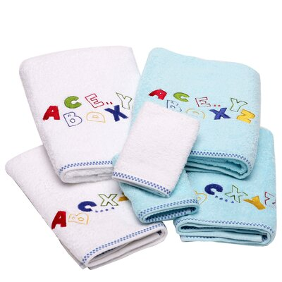 Lucia Minelli Kids Alphabet Embroidered 6 Piece Towel Set