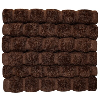 Brampton Wash Cloth Color: Chocolate
