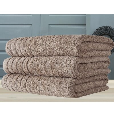 Barnum Combed Bath Towel Color: Beige