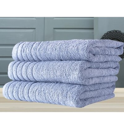 Barnum Combed Bath Towel Color: Blue