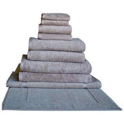 Salbakos Glidden 10 Piece Towel Set Color: Beige