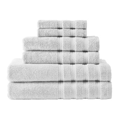 Antalya 6 Piece Towel Set Color: White