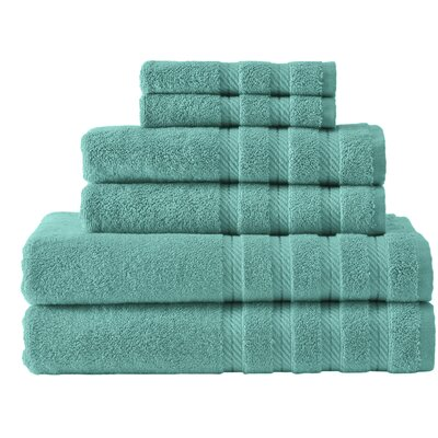Antalya 6 Piece Towel Set Color: Aqua