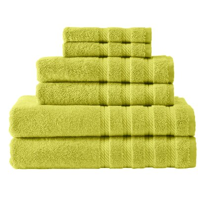 Antalya 6 Piece Towel Set Color: Green