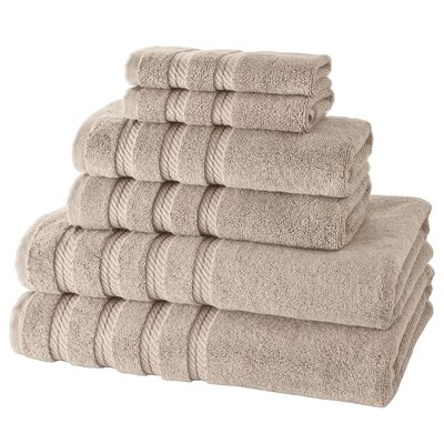 Antalya 6 Piece Towel Set Color: Taupe