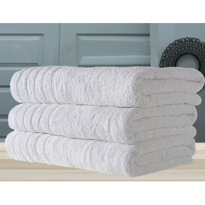 Barnum Combed Bath Towel Color: White