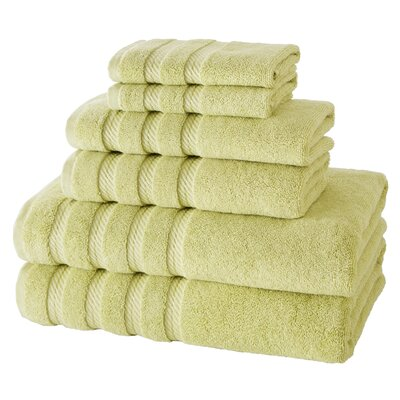 Antalya 6 Piece Towel Set Color: Green