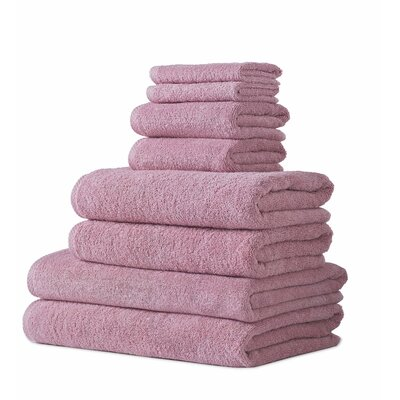 Salbakos Arsenal 8 Piece Towel Set Color: Mat Rose