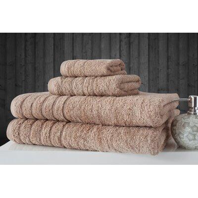 Barnum 4 Piece Towel Set Color: Beige
