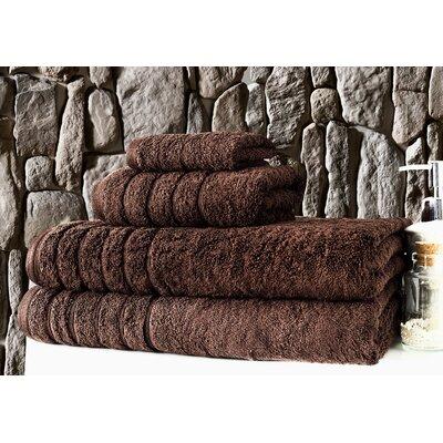 Barnum 4 Piece Towel Set Color: Chocolate