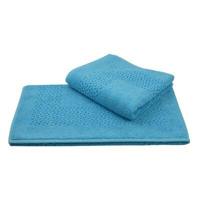 Mei Tal Bath Rug Color: Aqua